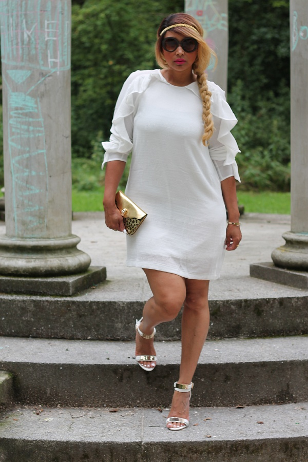 Little white dress plus size fashion