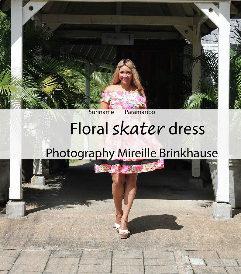 FLORAL SKATER DRESS 5