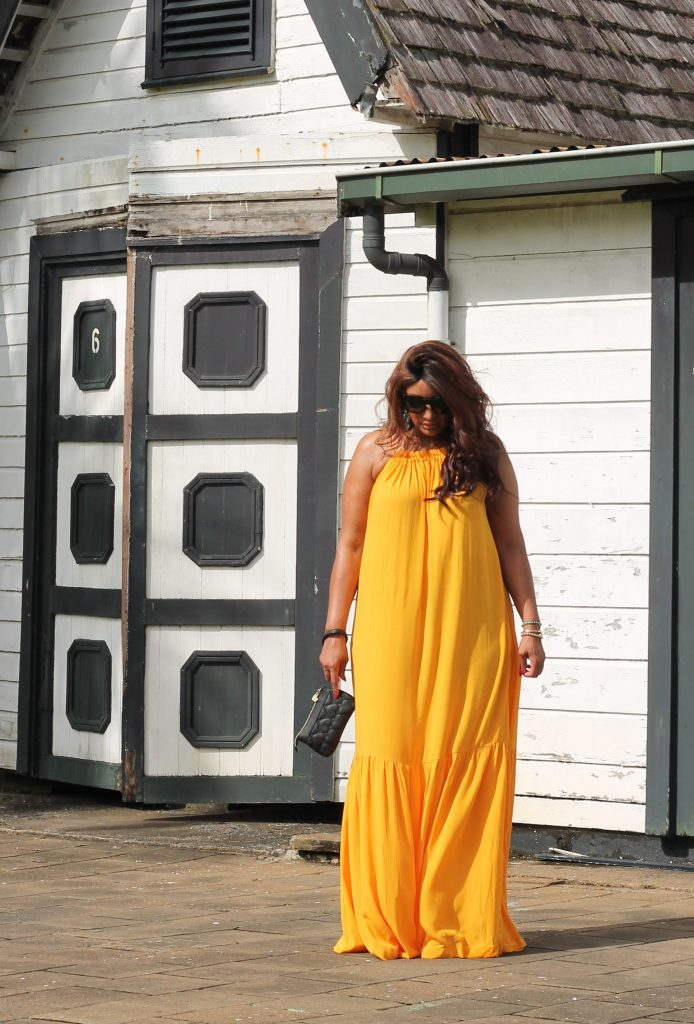 Mango Violeta Yellow dress