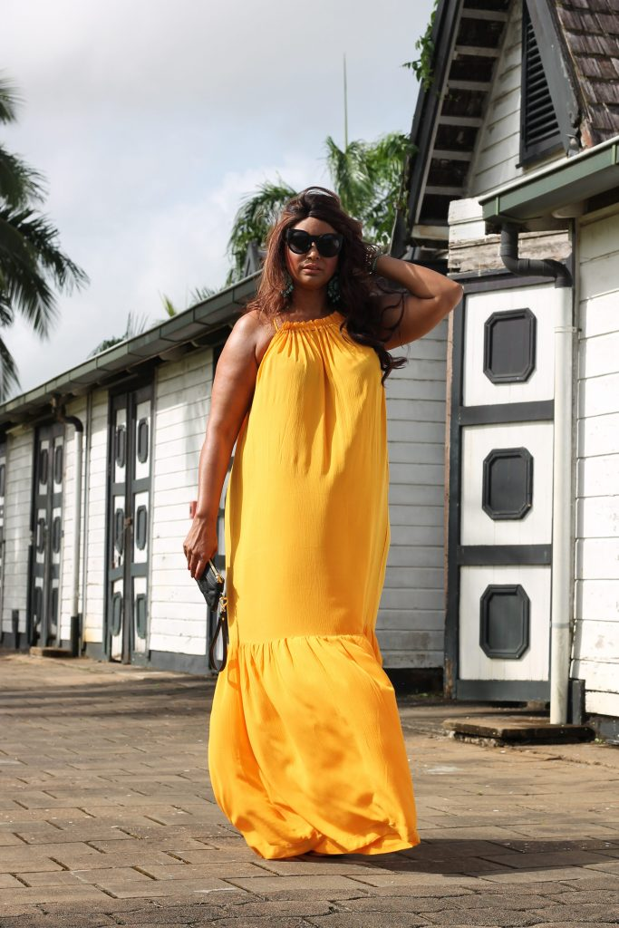 Yellow Maxi dress Mango Violeta