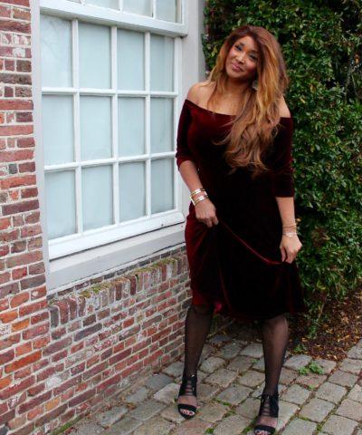 RED VELVET DRESS 14