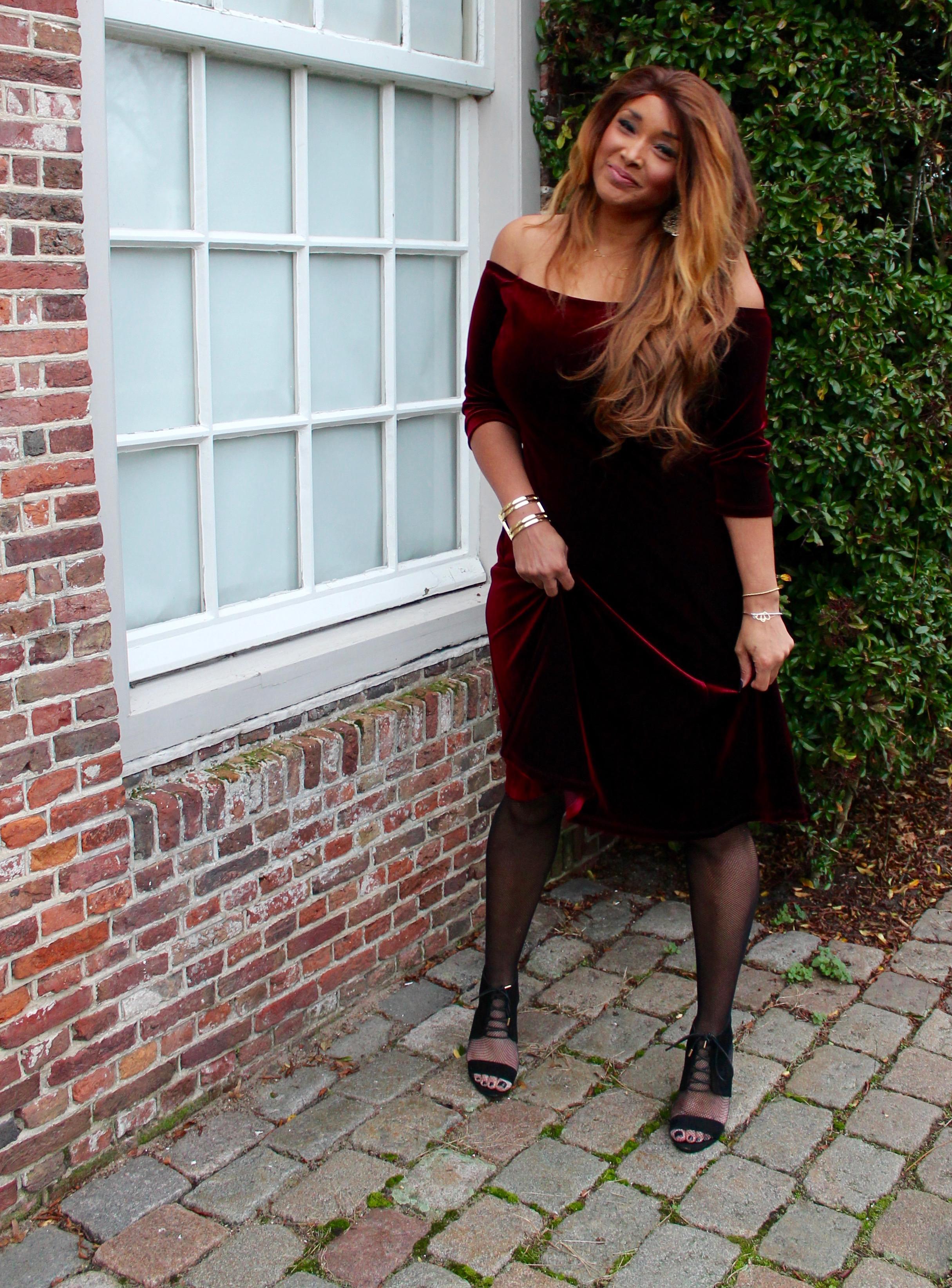 RED VELVET DRESS 5