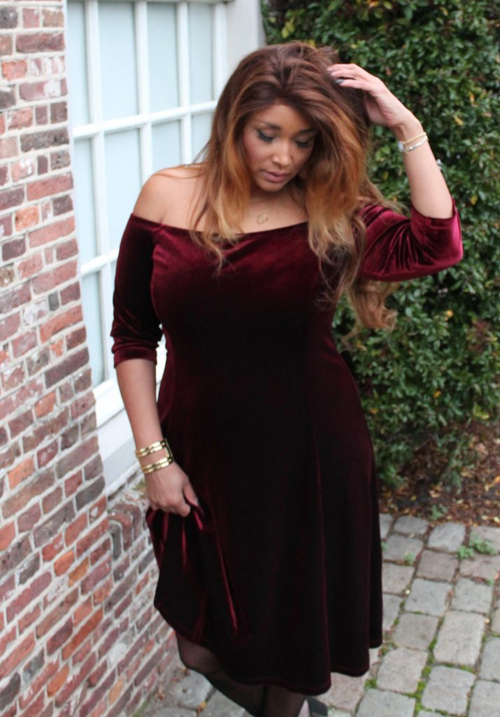 RED VELVET DRESS 9