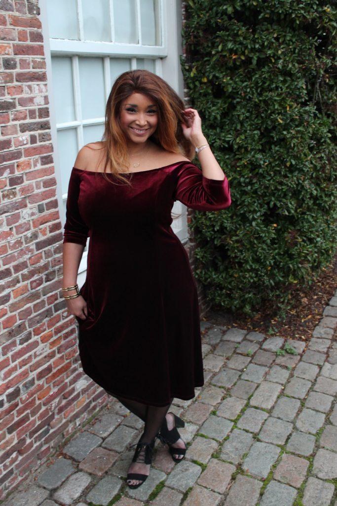 RED VELVET DRESS 11