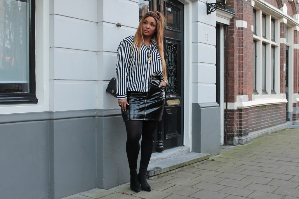 Black and White plus size outfit
