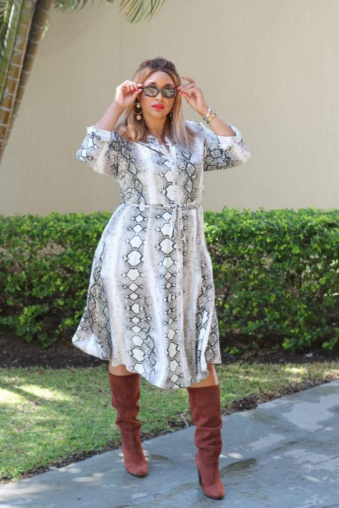MS MODE SNAKE DRESS